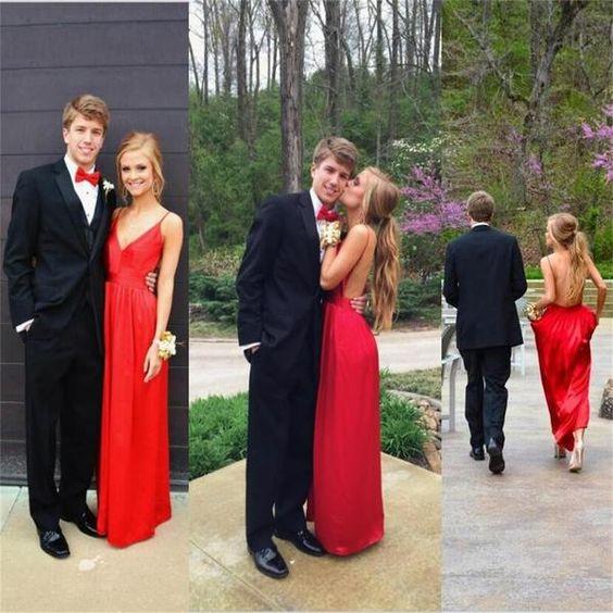 robe de soirée rouge longue dos nu