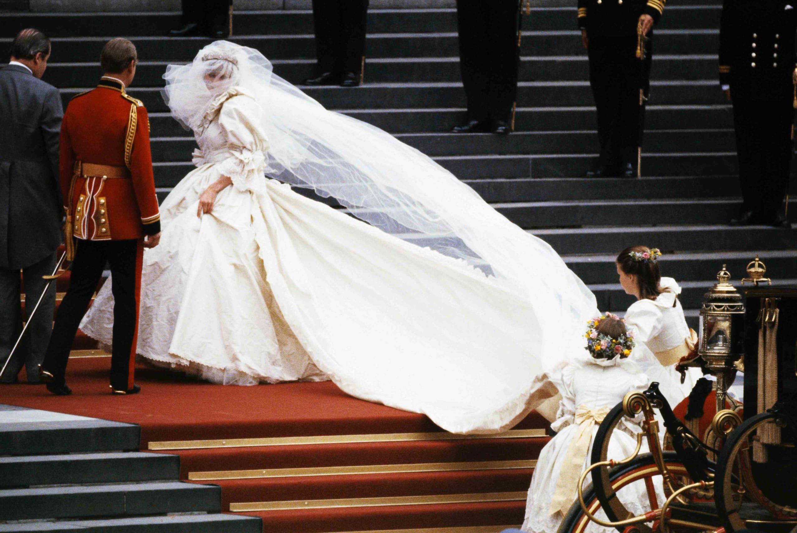 voile mariée long de princesse Diana