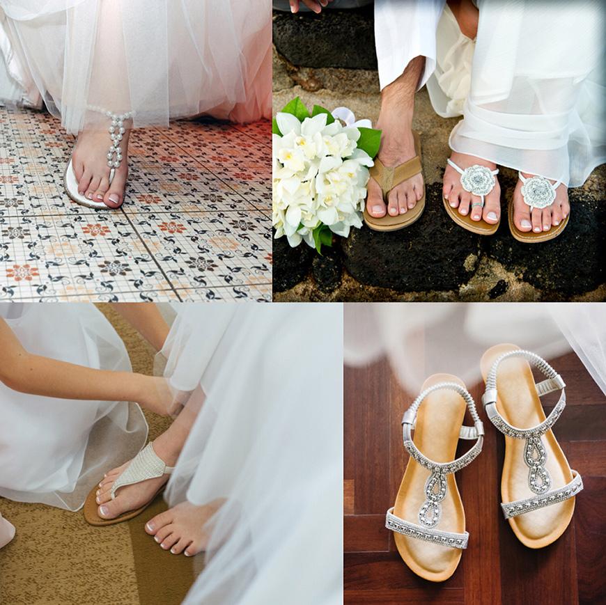 sandale plate pour mariée