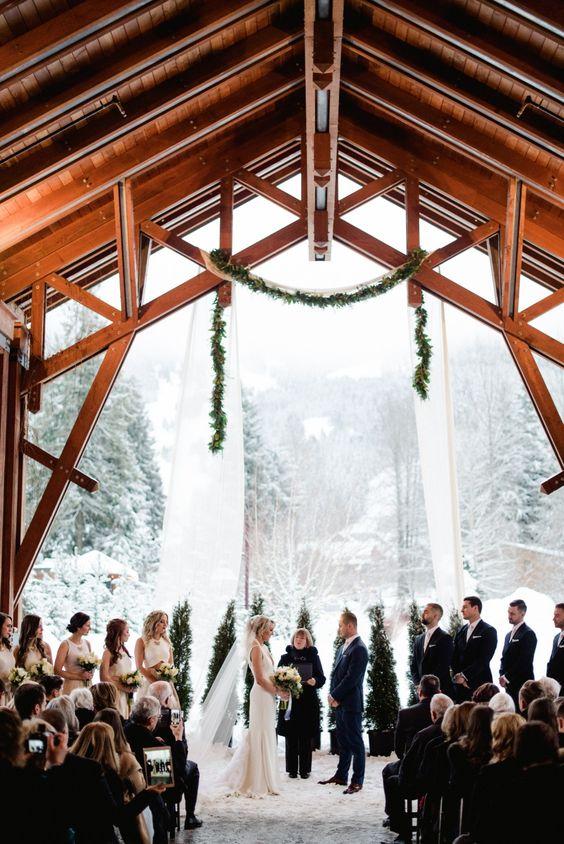 mariage sous neige