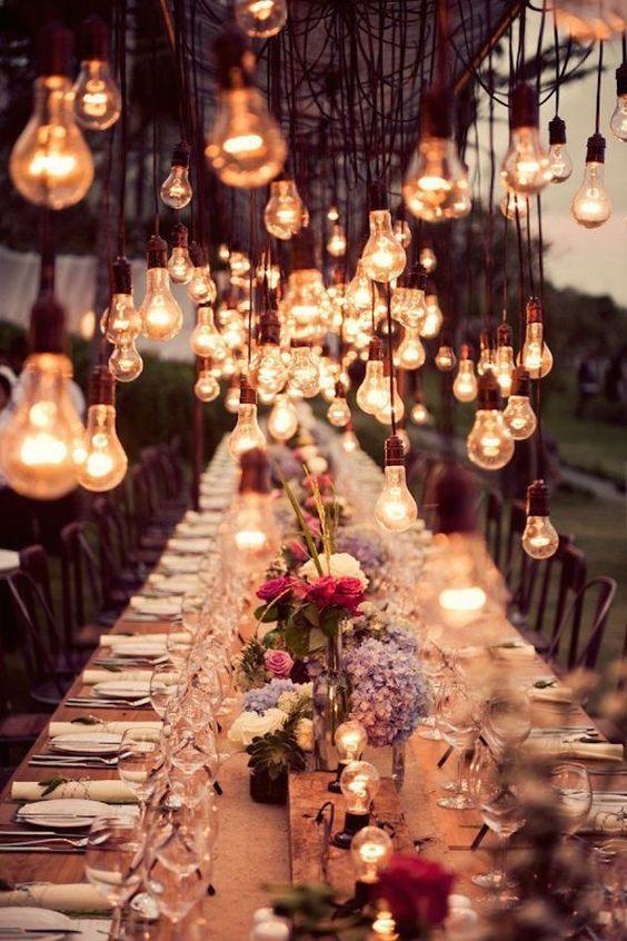 lumières de mariage d'hiver
