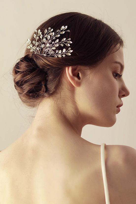 Peigne cheveux mariage vintage agrémenté de strass